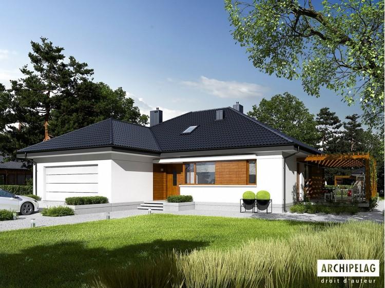 Plan de maison ASTRID G2 Option, maison ossature bois...